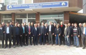 Ak Parti Milletvekili Mustafa Yel Derneğimizi Ziyaret Etti.